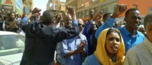 """Proteste gegen die Beschlagnahmung der jüngsten Ausgabe der """"Al-Maidan"""", Zeitung der Sudanesischen Kommunistischen Partei (Foto: sudancp.com)"""