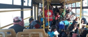 Die Treibstoffknappheit in Syrien beeinträchtig auch den öffentlichen Nahverkehr.  (Foto: Sana)