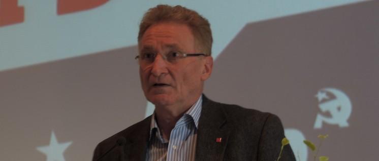 Uwe Fritsch ist Betriebsratsvorsitzender bei VW Braunschweig und Mitglied des Parteivorstandes der DKP (Foto: Tom Brenner)