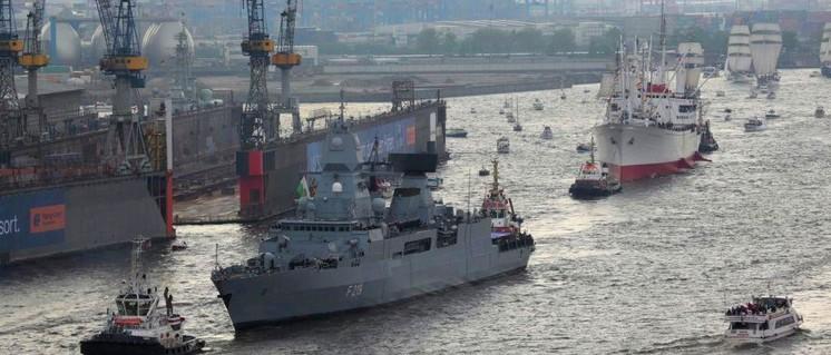 Beim Hamburger Hafenfest zeigt sich gerne die Bundesmarine. (Foto: Bundeswehr)