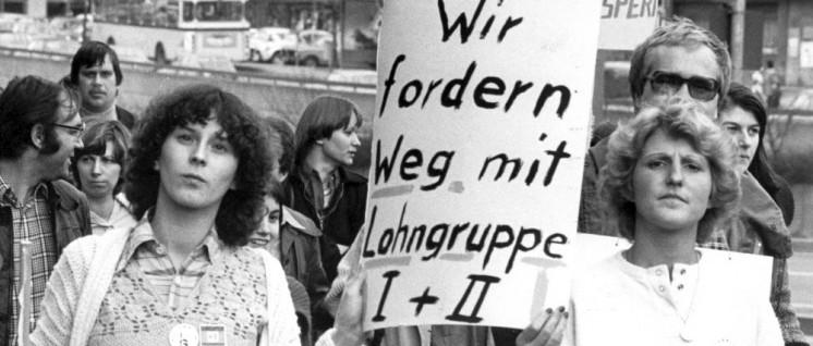 IG-Metall-Demonstration in Stuttgart am 30.März 1978. (Foto:  UZ-Archiv)