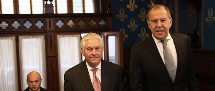 US-Außenminister Rex Tillerson und der russische Außenminister Sergei Lawrow vor ihrem Treffen in Moskau (Foto: U.S. Department of State)