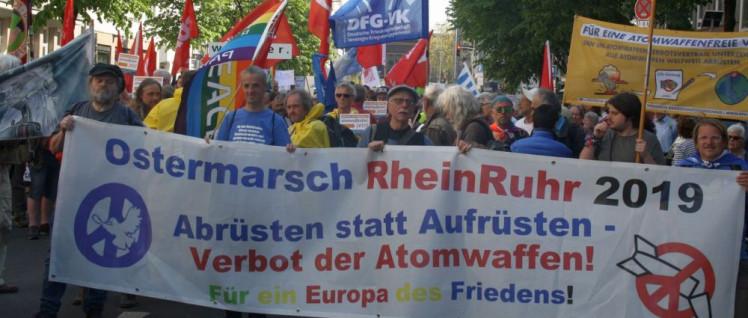 An Rhein und Ruhr: Atomwaffen verbieten (Foto: Hans Dieter Hey / r-mediabase.eu)