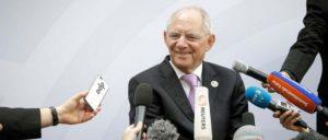 Finanzminister Schäuble beharrt in Baden-Baden auf den deutschen ökonomischen Interessen (Foto: [url=http://www.bundesfinanzministerium.de/Content/DE/Bilderstrecken/Mediathek/Bildergalerien/2017-03-17-g20-freitag.html?notFirst=true&docId=121434#photogallery] Bundesministerium der Finanzen / Koehler[/url])