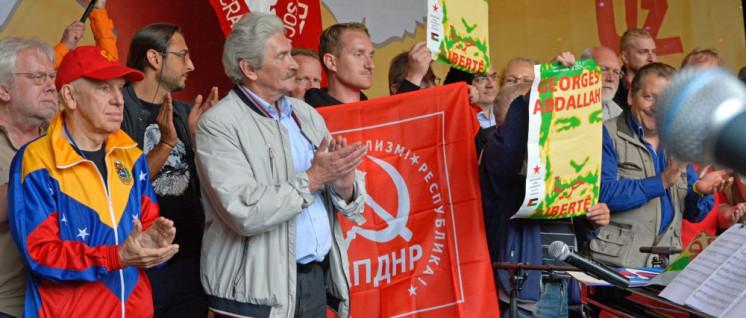 Einige der internationalen Gäste aus insgesamt 35 Kommunistischen und Arbeiterparteien (Foto: Tom Brenner)