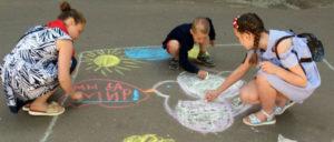 """""""Wir sind für den Frieden"""" Kinderfest des Klubs in Makejewka (Foto: Stanislaw Retinskij,)"""