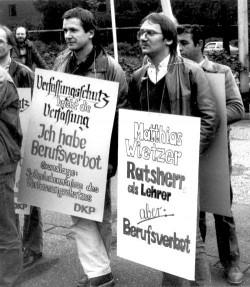 Matthias Wietzer (r.) und Ulrich Farin  1984 in Köln
