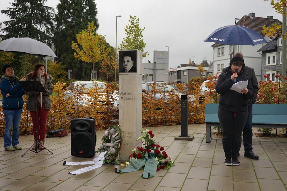 Gedenkstele für den Siegener Kommunisten Walter Krämer