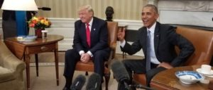US-Präsident Barack Obama trifft seinen Nachfolger Donald Trump im Weißen Haus, 10. November 2016. (Foto: VOA/public domain)