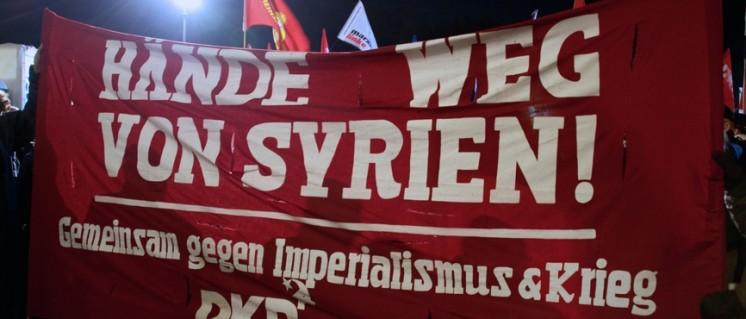 Berlin, Demonstration gegen die deutsche Beteiligung am Krieg in Syrien. (Foto: Gabriele Senft)
