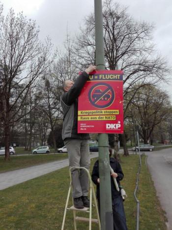 Plakatierung in München
