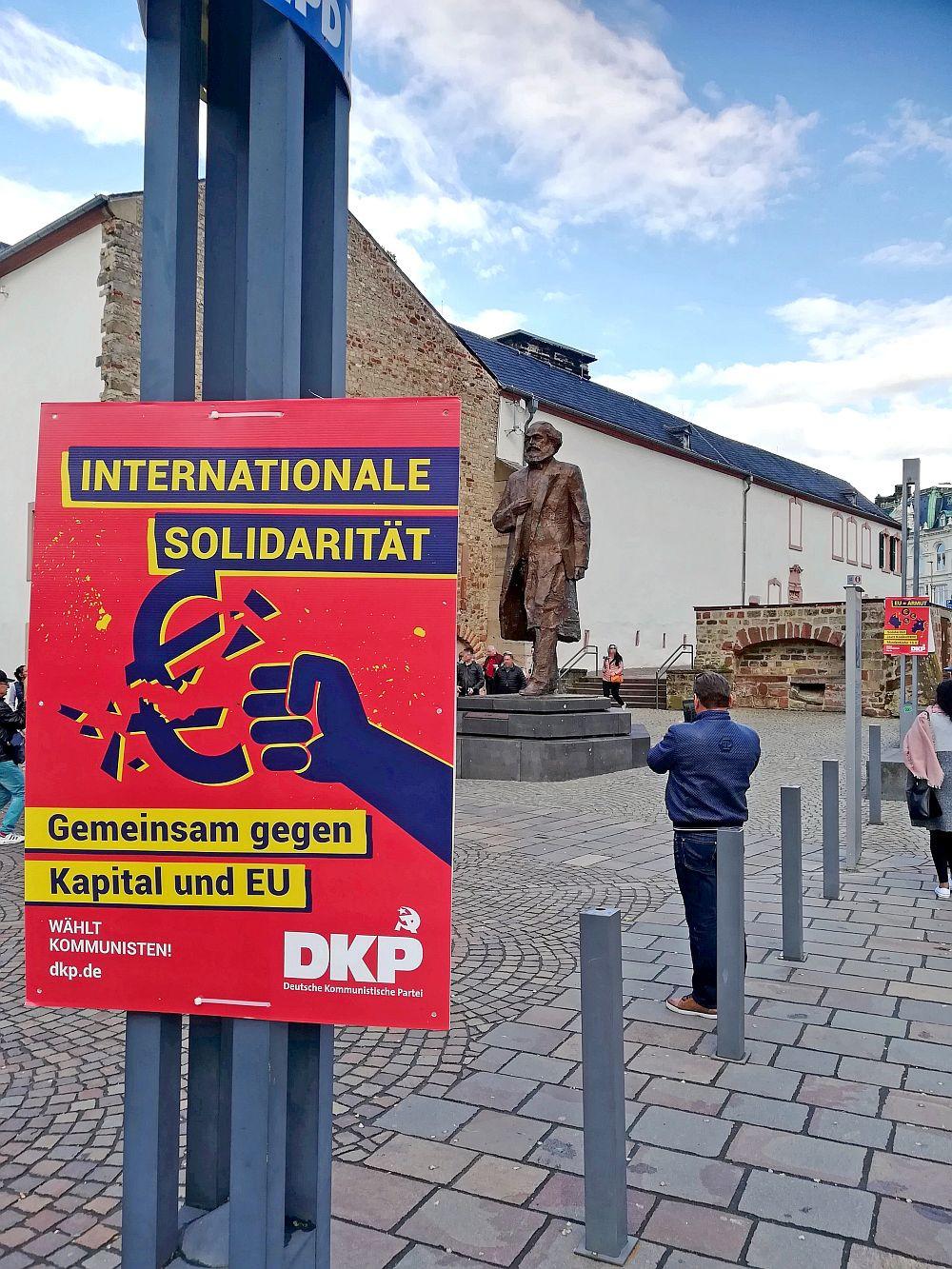 Wahlplakat in Trier