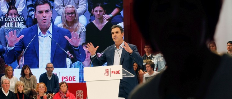 Irgendeinen Wandel will er auch: Pedro Sánchez erhielt keine Mehrheit für seine geplante Koalition mit den Ciudadanos. (Foto: FSA-PSOE/flickr.com/CC BY-ND 2.0//www.flickr.com/photos/fsapsoe/22503434573)