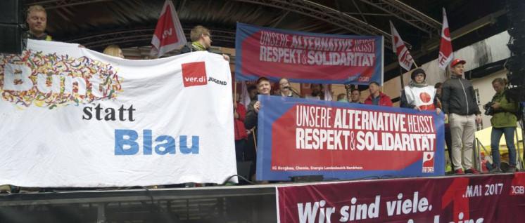Kundgebung am 1. Mai 2017 in Wuppertal (Foto: Jochen Vogler/r-mediabase.eu)