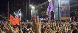 """Eine Woche vor der Enttäuschung: Kundgebung für das """"Oxi"""" beim Juli-Referendum. (Foto: Ggia/wikimedia.org/CC BY-SA 4.0)"""