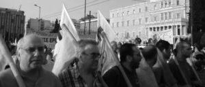 Nein zum neuen Memorandum – Demonstrantion der klassenbewussten Gewerkschaftsfront PAME am vergangenen Freitag vor dem griechischen Parlament (Foto: PAME)