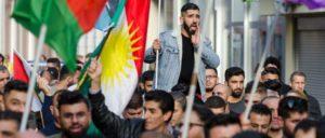 Weltweit gibt es Proteste gegen den türkischen Überfall auf Syrien – wie hier in Trier.                          (Foto: Jan Maximilian Gerlach)