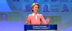 Frau von der Leyen bei der Präsentation ihrer Kandidatenvorschläge (Foto: Etienne Ansotte/ EC– Audiovisual Service)
