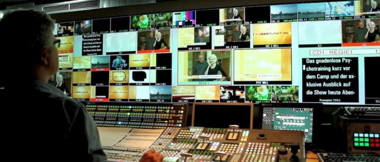 Regieraum des Privatsenders RTL