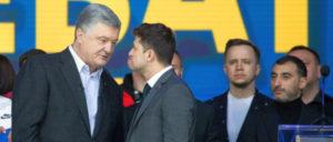 Poroschenko (links) oder Selenskij (rechts) ist der EU egal– Hauptsache der neue Präsident setzt den aggressiven Kurs gegen Russland fort. (Foto: The Presidential Administration of Ukraine)