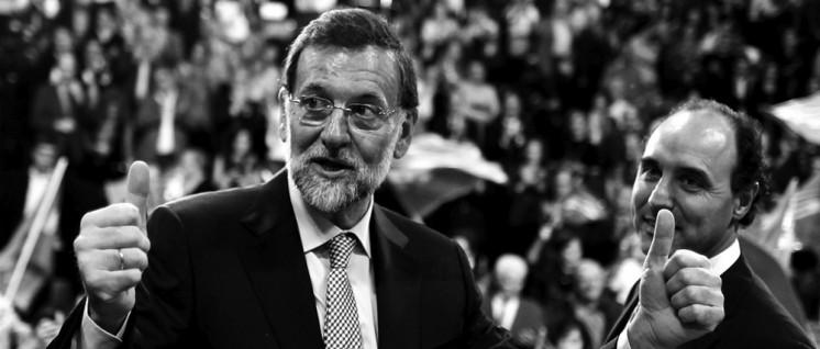 Wer braucht schon Mehrheiten? Der spanische Ministerpräsident Mariano Rajoy kann auch ohne. (Foto: Partido Popular de Cantabria, www.flickr.com/photos/ppcantabria/CC BY-ND 2.0)