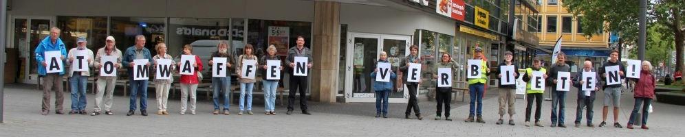 Gemeinsame Aktion mit dem Bremer Friedensforum am Rande der Friedenskundgebung in Koblenz