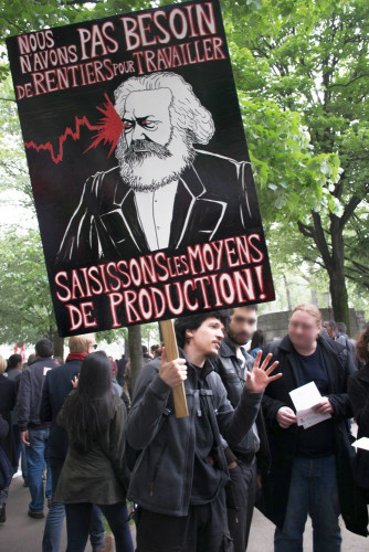 Aus dem Exil zurück: Karl Marx (1.Mai 2018 in Paris)