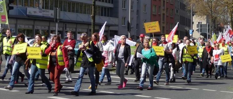 ver.di-Aktionstag in Dortmund am 16. 4. 2016 (Foto: Jochen Killing)