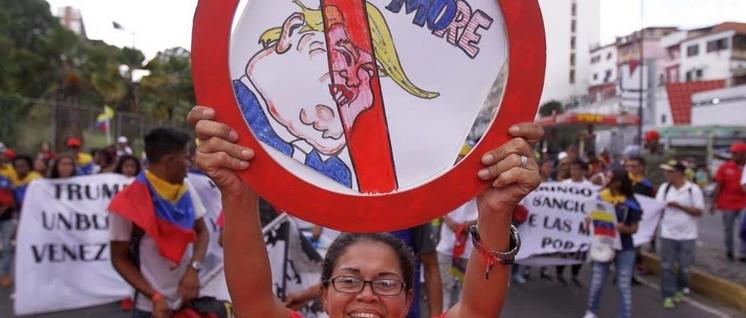 """Die Bevölkerung Venezuelas hat genug von den Sanktionen der USA. Deren neuster Coup ist die """"vollständige Blockade"""" der Vermögenswerte Venezuelas. (Foto: www.minci.gob.ve)"""