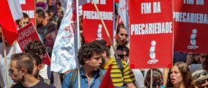 Nein zur Prekarität! Demo der CGTP, der der Kommunistischen Partei Portugals nahestenden größten Gewerkschaft Portugals im Juli 2019 in Lissabon. (Foto: PCP)