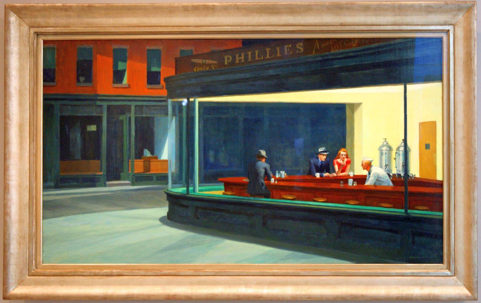 "Edward Hopper ""Nighthawks"" (Nachtschwärmer)"