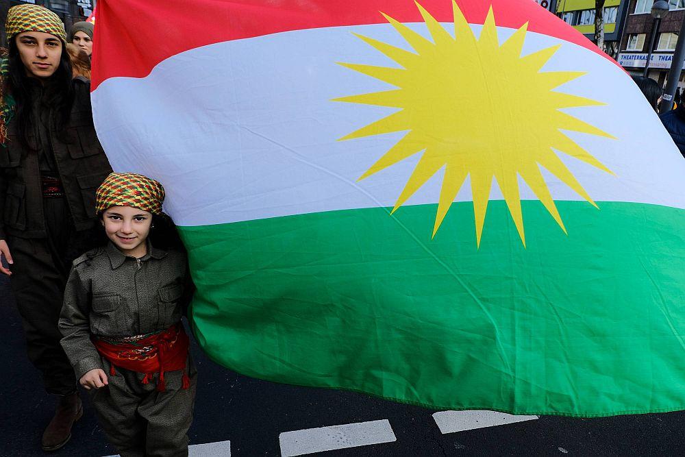 Solidaritätsdemonstration in Köln mit Afrin im kurdischen Nordsyrien gegen den Einmarsch türkischer Truppen 2018
