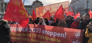 Protest gegen die Münchner Kriegskonferenz