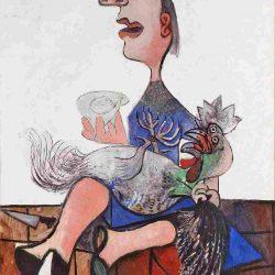 "Picassos ""Frau mit Hahn"""