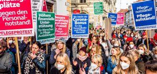 Graz: Pflegebeschäftigte gehen auf die Straße